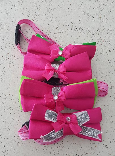 Barbie pink Bowties with accesories