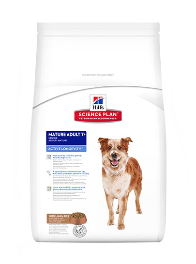 Hills Canine Mature Adult 7+ Active Longevity Medium Breed with Lamb & Rice