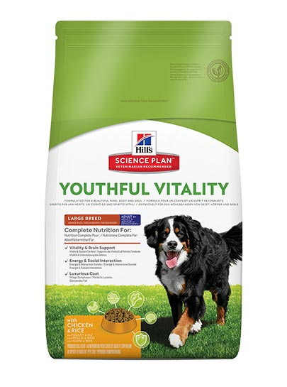 Hills Canine Adult 5+ Youthful Vitality Large Breed with Chicken and Rice