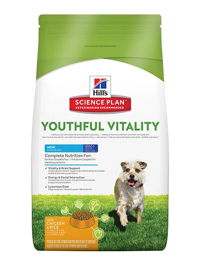 Hill's Canine Adult 7+ Youthful Vitality Mini Breed with Chicken & Rice