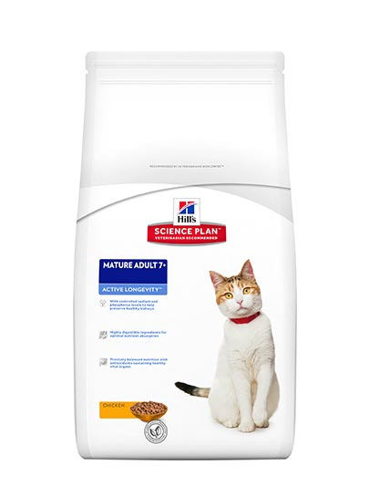 Hills Feline Mature Adult 7+ Active Longevity Chicken Flavour