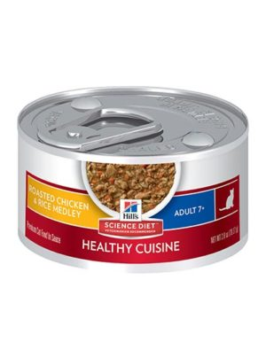 Hills Adult 7+ Healthy Cuisine Roasted Chicken & Rice Tinned Cat Food