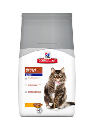 Hills Feline for Mature Adults 7+ Hairball Control Chicken Flavour