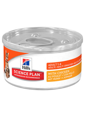 Hills Feline Optimal Care Adult Chicken Flavour Tinned Food