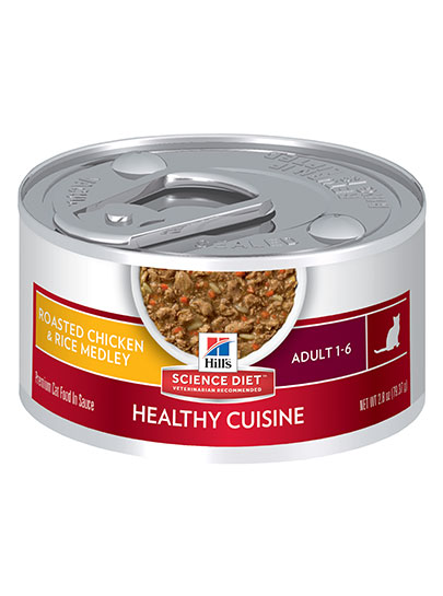 Hills Optimal Care for Adult Cats in Chicken and Rice Medley