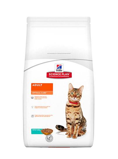 Hills Optimal Care Adult Cat Tuna Flavour