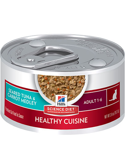 Hills Optimal Care for Adult Cats in Tuna and Carrot Medley