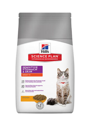 Hills Feline Adult Sensitive Stomach and Skin Chicken Flavour