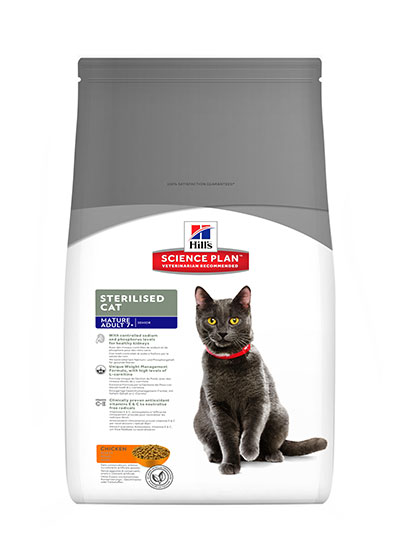Hills Feline Mature Adult 1-7 Sterilised Cat Chicken Flavour