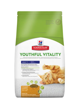 Hills Feline Adult 7+ Youthful Vitality Chicken with Rice