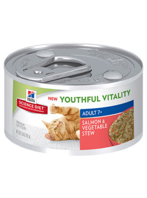 Hills Feline Adult 7+ Youthful Vitality Salmon and Vegetable Stew