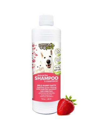 All Natural Pet Shampoo Furry Pet Wash-Mild Puppy Bath Strawberry