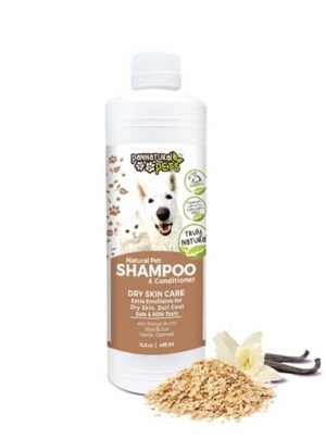 All Natural Pet Shampoo Furry Pet Wash-Dry Skin Care Oatmeal and Vanilla