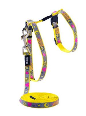 Rogz ReflectoCat Harness Lead Set
