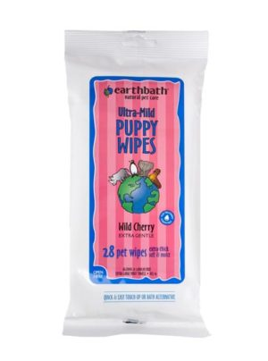 Earthbath Ultra-Mild Puppy Wipes-Wild Cherry