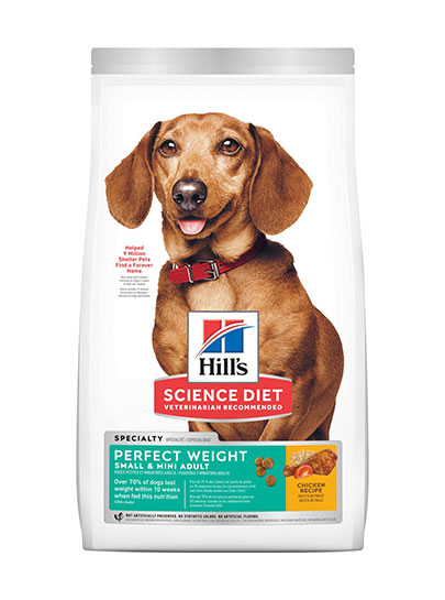 Hill's Canine Adult Perfect Weight Small & Mini Breed with Chicken