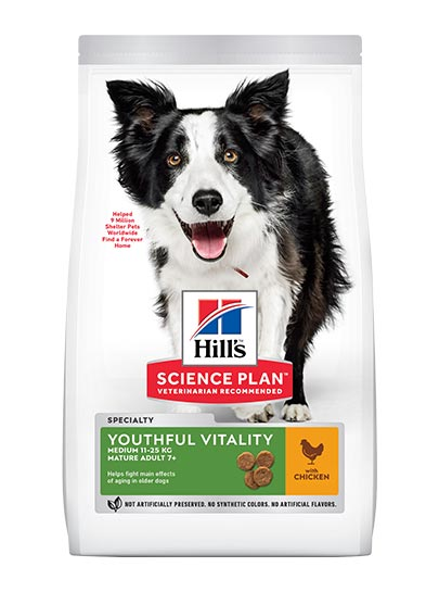Hills Canine Youthful Vitality Medium Breed 7+ with Chicken & Rice