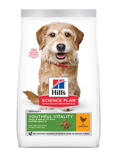 Hill's Canine Adult 7+ Youthful Vitality Small & Mini Breed with Chicken & Rice