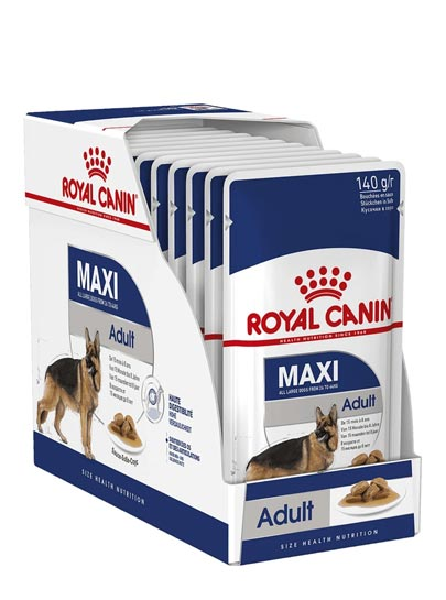 Royal Canin Maxi Adult - Wet Food Pouches - (Box Of 10x140g)