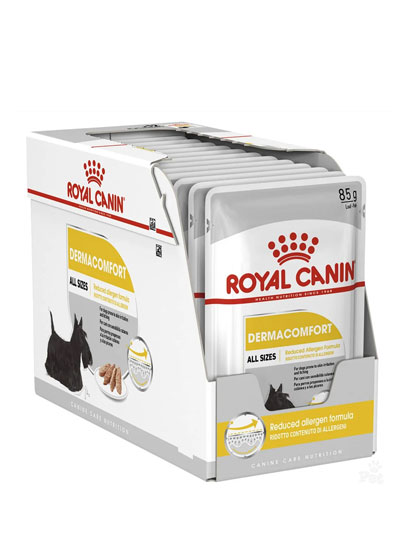 Royal Canin Dermacomfort Wet Pouches 12 x 85g