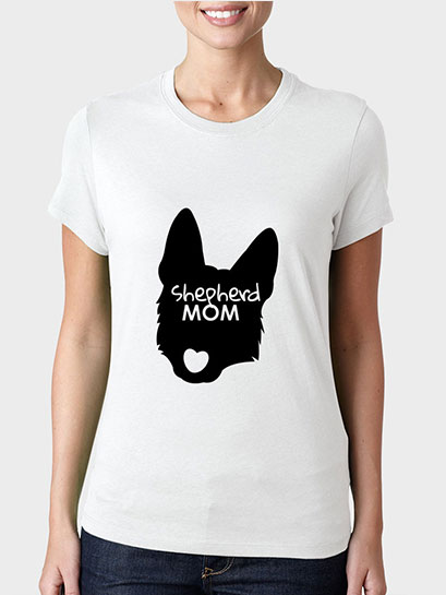Shepherd Mom Ladies Cut T-shirt