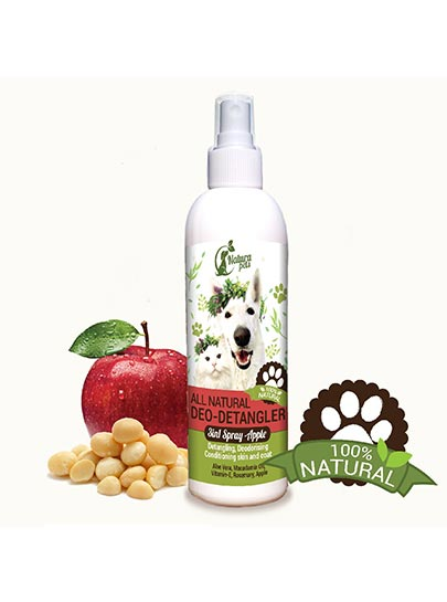 All Natural Deo-Detangler Pet Spray Apple