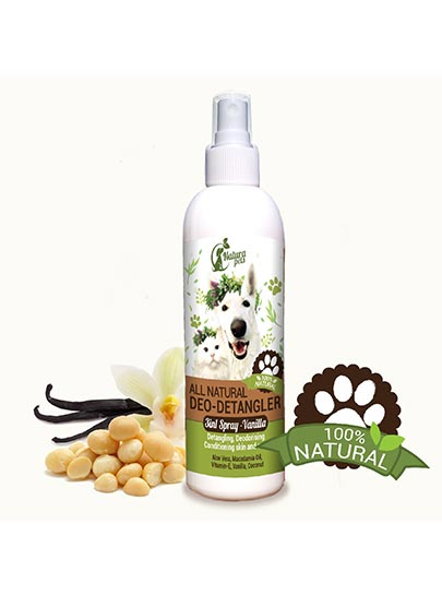 All Natural Deo-Detangler Pet Spray Vanilla