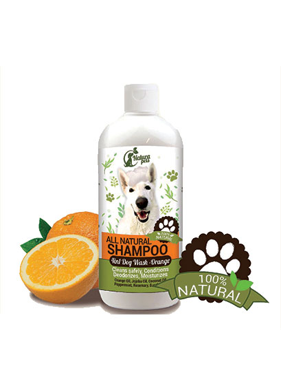 All Natural 4 in 1 Dog Shampoo Orange