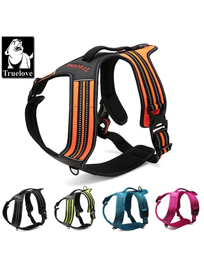 Truelove-Security-Heavy-Duty-Mesh-Reflective-Dog-Harness Top Handle